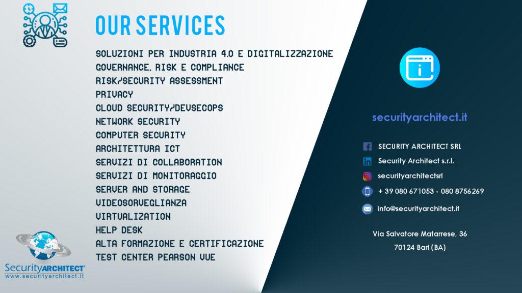 Security Architect Top Services: sempre un passo avanti!